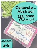 Abstract vs. Concrete Noun Word Sort
