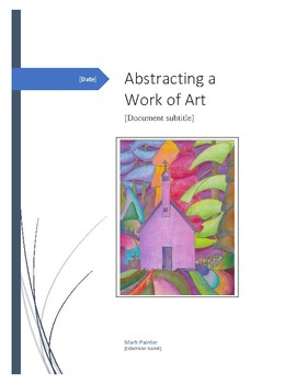 Abstracting a Work of Art with Coloured Pencil Crayons