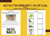 Abstraction Worksheets or Sub plans