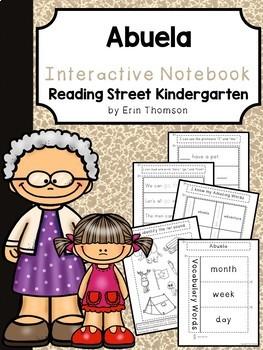 Abuela Interactive Notebook ~ Reading Street Kindergarten