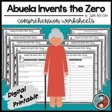 Abuela Invents the Zero Comprehension Digital & Printable