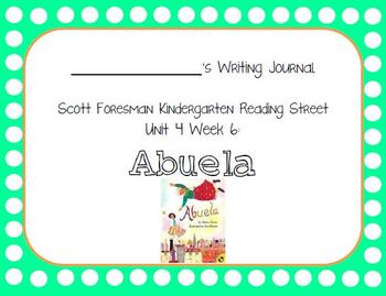 Abuela Writing Journal with Word Dictation (Kindergarten Reading Street 4.6)