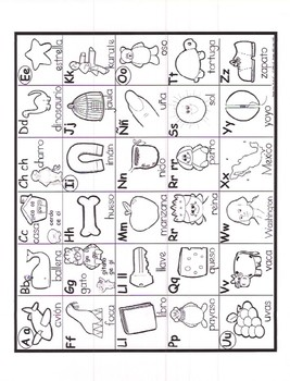Abuelita's Spanish Alphabet writing and vocabulary book