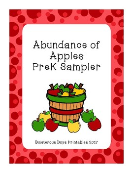 Abundance of Apple PreK Printable Pack Sampler