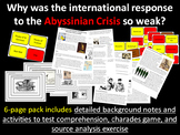 Abyssinia - 6-page full lesson (notes, card sort, source analysis, charades)