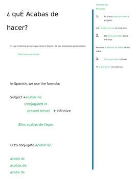 Acabar De Spanish Think Page