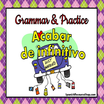 Acabar de Infinitive Grammar and Practice Powerpoint