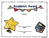 Academic Achievement Award