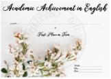 Academic Achievement in English Set
