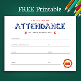Academic Achievements and Attendance Certificates (FREE)