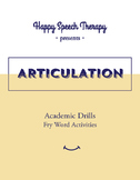 Speech Therapy Articulation Game for Fry Words