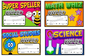 Academic Award Certificates ~Bright Colors