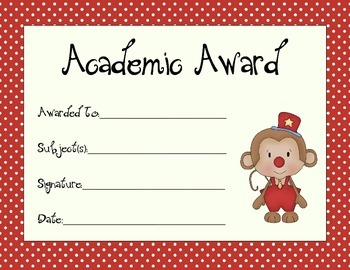 Academic Award Pack