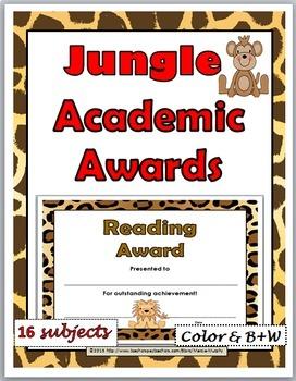 Jungle Theme Academic Awards