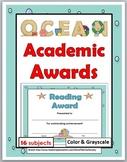 Ocean Theme Classroom Academic Awards - End of the Year Awards