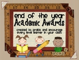 Academic Awards  {praise/encouragement for all level learners}