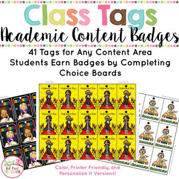 Academic Badges (Brag Tags Evolved into Class Tags!)