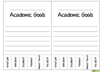 Academic, Behavioural/Behavioral and Personal Tear-off Goals