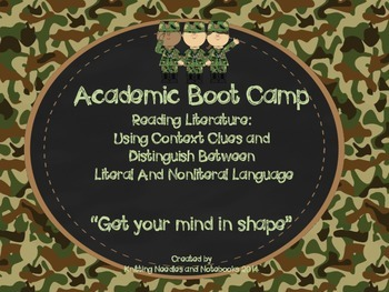 Academic Boot Camp: Reading Literature: Context Clues and Figurative Language