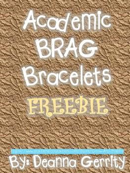 Academic Brag Bracelets FREEBIE!