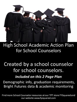 Academic & Bright Future High School Action Plan for Counselors-2 Pages