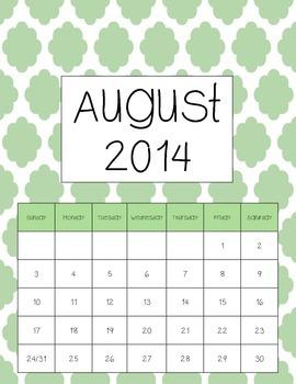 Academic Calendar - Retro Clouds