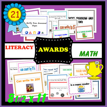 Academic Certificates-Language and Math 21 count