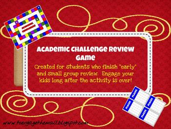 """Academic Challenge Game: Engage """"Early Finishers"""""""