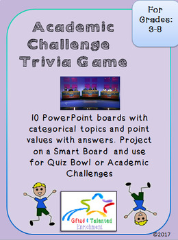 Academic Challenge Preparation/Trivia Game!
