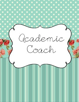 Academic Coach Binder for Yearlong Organization