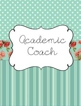 Academic Coach Binder for Yearlong Organization