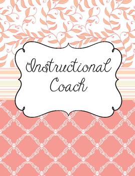 Academic Coach Binder with Peach and Cream theme