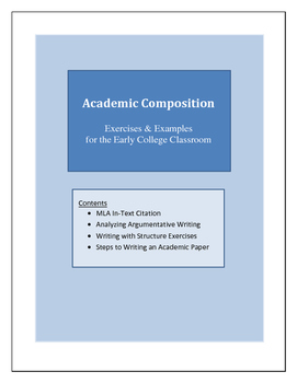 Academic Composition - Exercises & Examples for the Early College Classroom
