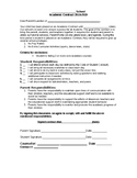 Academic Contract: agreement for parents and students