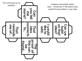 Speaking and Listening : Academic Conversation Disks {Common Core Aligned }