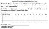 Academic Conversation Self-Monitoring Group Rubric