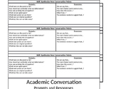 Academic Conversation / Sentence Starters / Questions / Booklet / Student