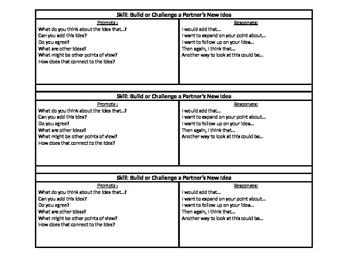 Academic Conversation / Sentence Starters / Questions / Booklet / Student
