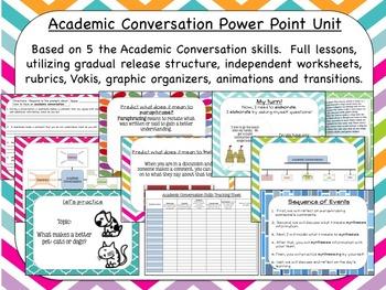 Academic Conversation Unit Power Point (214 slides!)
