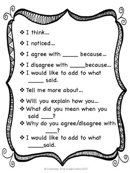 Academic Conversation and Writing Response Stems