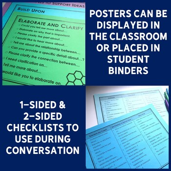Academic Conversations for Accountable Talk - Placemats