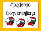 Academic Conversations Printable Posters