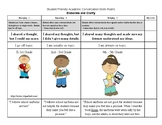 Academic Conversations Student-friendly Rubrics