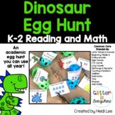 Reading and Math Dinosaur Egg Hunt   Kindergarten and First Grade