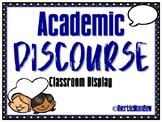 Academic Discourse | Accountable Talk Display | Black Polka Dot w/ Blue