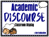 Academic Discourse | Accountable Talk Display | Black Polka Dot w/ Blue
