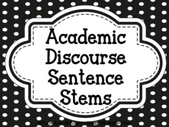 Academic Discourse Posters (plain polka dot)