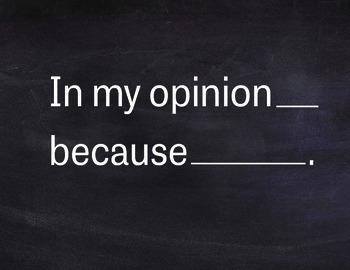 Academic Discourse Sentence Frames