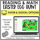 Academic Easter Egg Hunt Reading AND Math!