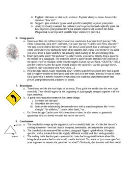 "Academic Essay ""Cheat Sheet"""